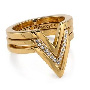 Rebecca Minkoff Gold Stack Ring